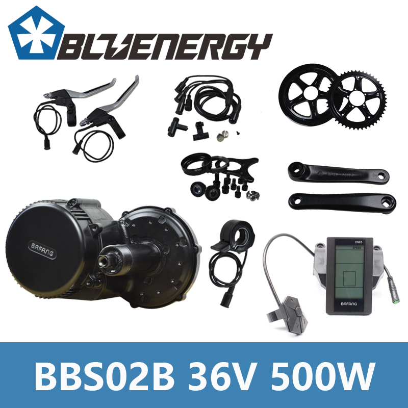 2018 Bafang 8Fun BBS02B 36V 500W Electric Bicycle Kit Mid Crank Motor with Color Display for Electric Bikes