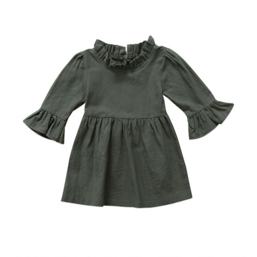Toddler Kid Baby Girls Clothes Dresses Cotton New Long Sleeve Xmas Tops Cute Tutu Dress Girl Clothing New