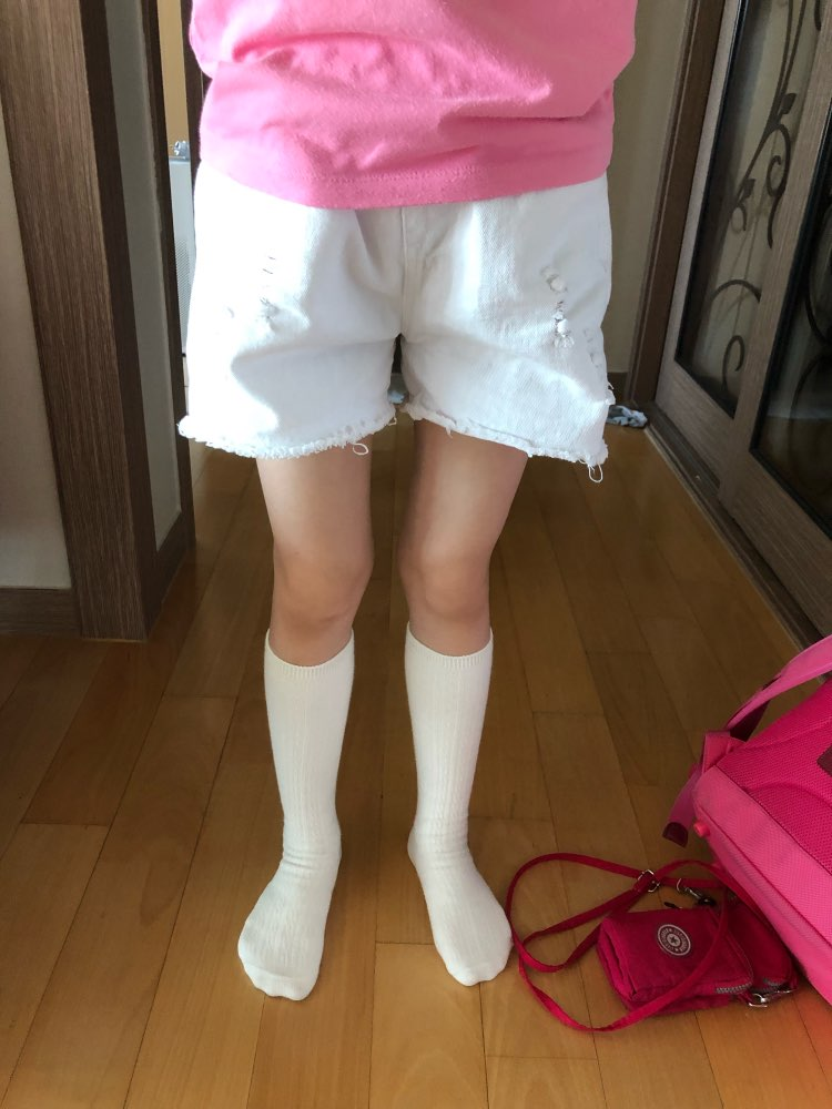 Shorts meninas branco menina