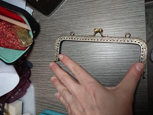 2019 Bronze DIY Purse Handbag Handle Coins Bags Metal Kiss Clasp Lock Frame 6.5/8.5/10.5/12.5/15/18/20.5cm New Fashion Handle photo review