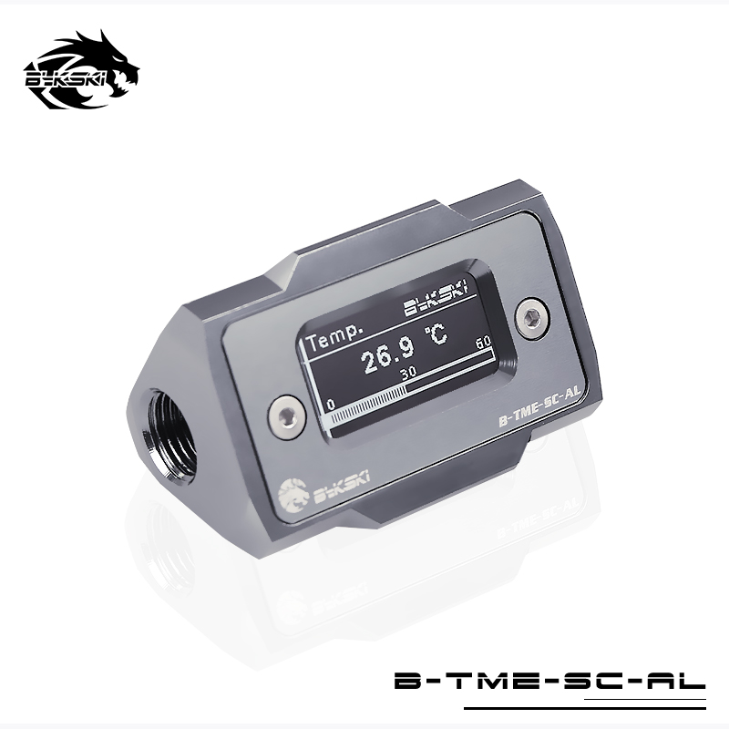 Bykski Water Cooling Thermometer HD LCD with Real time Temperature Detection For PC B TME SC