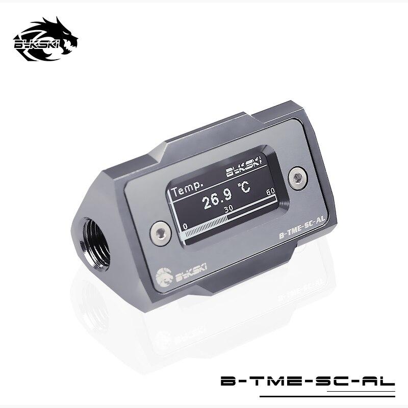 Bykski Acqua di Raffreddamento Termometro HD LCD con Rilevamento della Temperatura in tempo Reale Per PC B-TME-SC-ALBykski Acqua di Raffreddamento Termometro HD LCD con Rilevamento della Temperatura in tempo Reale Per PC B-TME-SC-AL