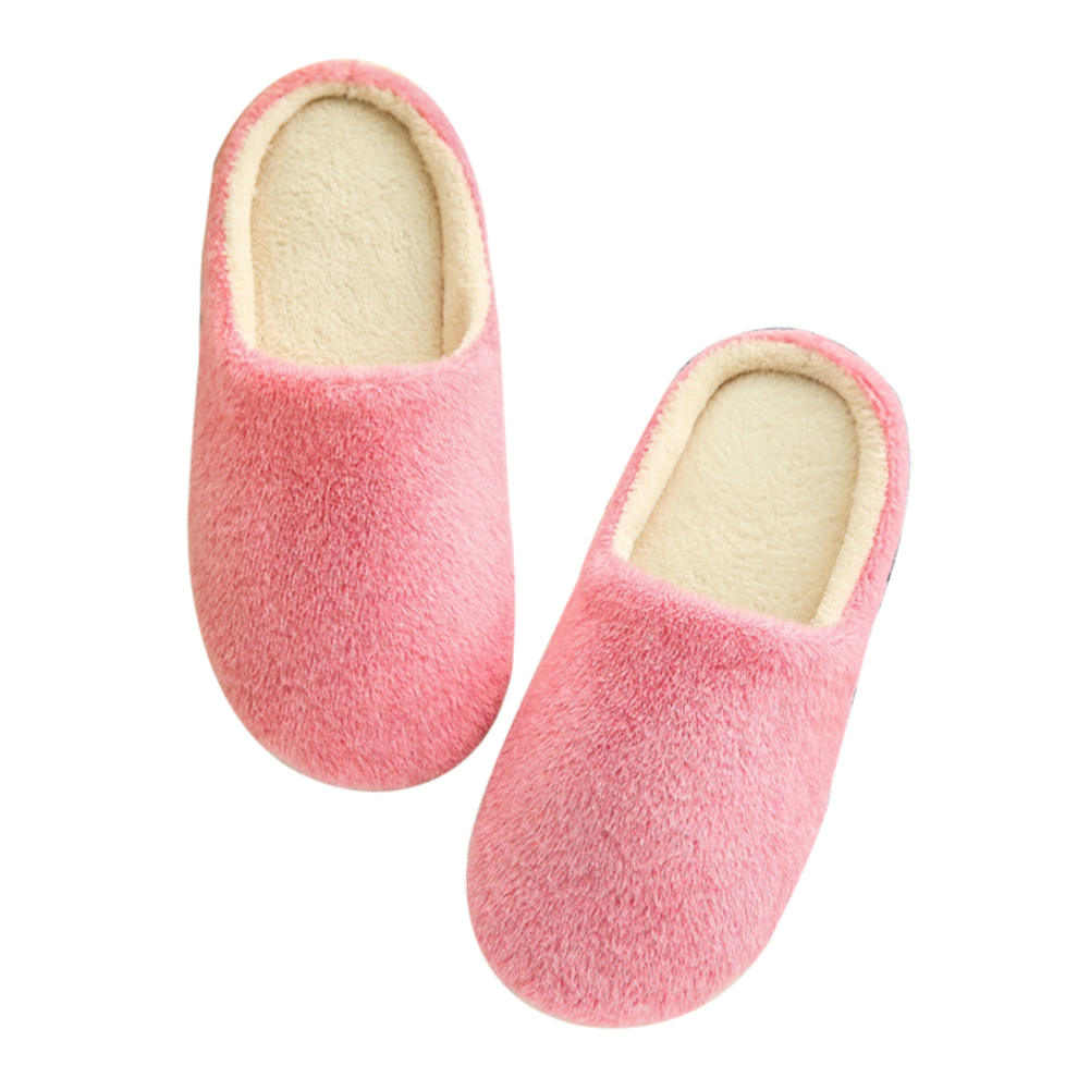 2018 Indoor Hause Hausschuhe Nicht-slip Candy Farbe Kurze Plüsch Hausschuhe Faux Pelz Frauen Schuhe Ein BrüLlender Handel