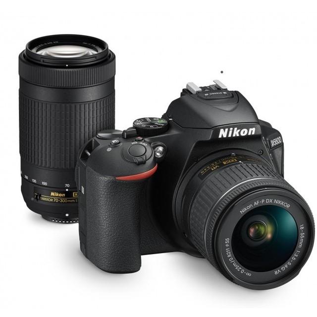 Nikon D5600 DSLR cuerpo de la cámara y AF-P 18-55mm y AF 70-300mm Kit de lente