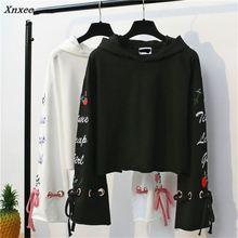 Xnxee Autumn Spring Auttum New Hooded Sweatshirts Women Loose Fleece Thick Hoodies Pullovers Raglan Sleeve Tops 67115