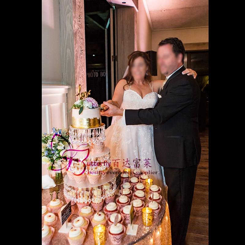 4 Tier Acrylic Cupcake Tower Stand -