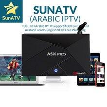 A5X плюс мини 1/8 г A5X PRO 2/16 г Android ТВ коробке с 1 года Суна ТВ IP ТВ 4000 Каналы настроен Франции арабских голландский Швеция США