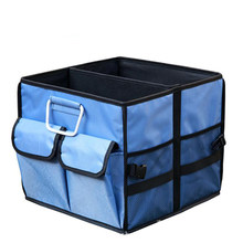 35x35x30cm Auto Collapsible Storage Box Car Trunk Organizer Oxford Cloth Car Back Folding Portable Storage Tools Bag(China)