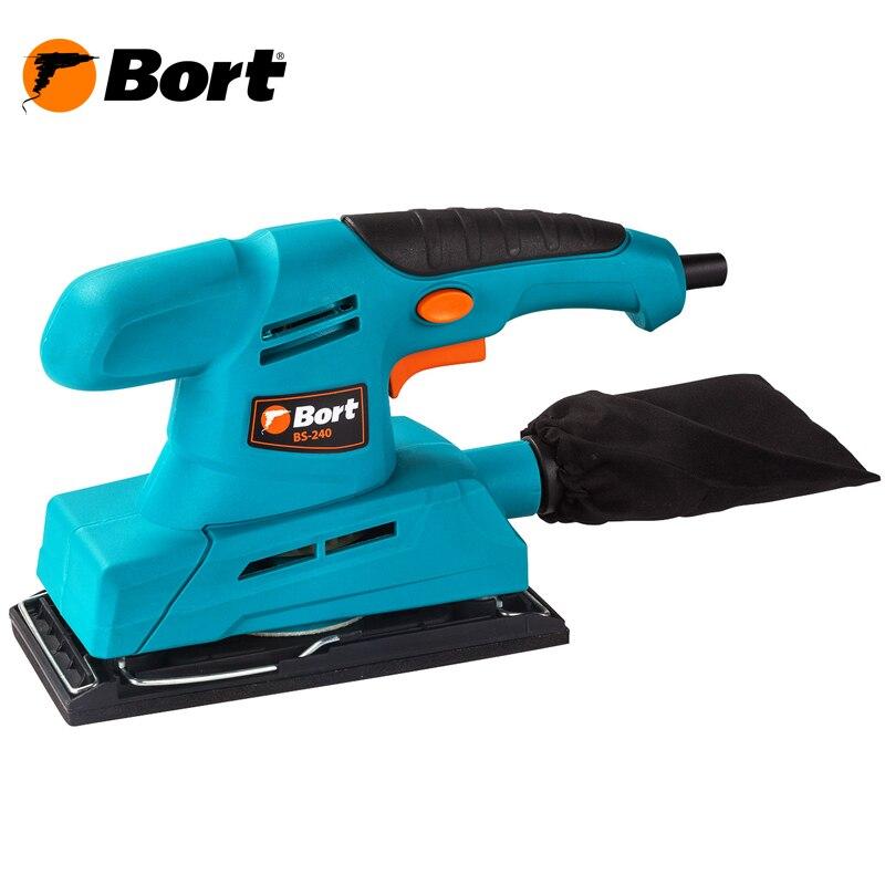 Машина шлифовальная вибрационная Bort BS-240 машина шлифовальная вибрационная stomer sfs 223