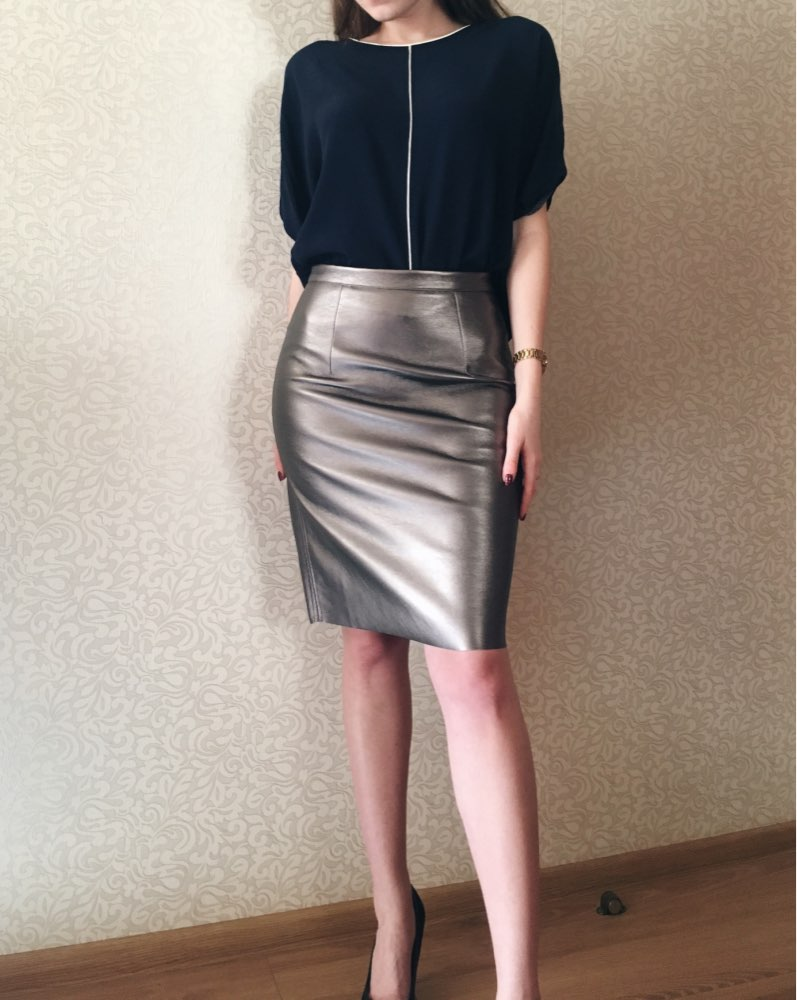 Winter Sexy Faux Fur Leather Pu High Waist Midi Women Pencil Skirts Xxl Office Bodycon Short Girls Tutu Saia photo review