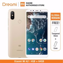 Global Version Xiaomi Mi A2 64GB ROM 4GB RAM (ยี่ห้อใหม่) mia2 64GB สมาร์ทโฟนโทรศัพท์มือถือ