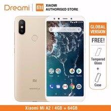 グローバルバージョン xiaomi mi A2 64 ギガバイト rom 4 ギガバイトの ram (真新しいと密封された) mia2 64 ギガバイトスマートフォン携帯
