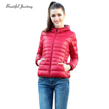 autumn winter cotton jacket women parka 2017 European American wind Fashion Slim was thin hooded short coat mujer Vadim W7G