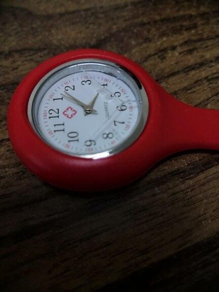 Момент # L05 Лидер продаж 2018 модные Ляля новые силиконовые часы Медсестры Брошь Туника Брелок часы с бесплатной Батарея Доктор медицинских Drop
