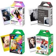 Fujifilm Instax Mini Film Mini 9 fotoğraf kağıdı 10/20/30 Sheets beyaz tek renkli gökkuşağı Macaron için Mini 7s 8 70 90 kamera