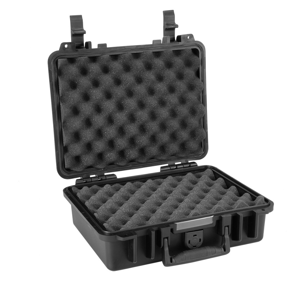 "UXCELL IP67 Tool Case Watertight Carry-on Hard Equipment Protective Case Pick N Pluck Foam 11.8"" x 8.66"" x 3.9"" Tools Packaging"
