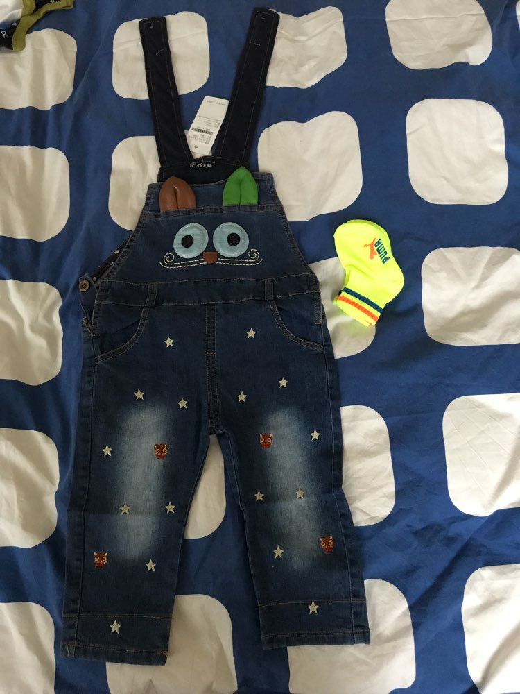 458dd9eebac IYEAL Autumn Baby Rompers Animal Baby Boy Girl Jeans Jumpsuit High ...