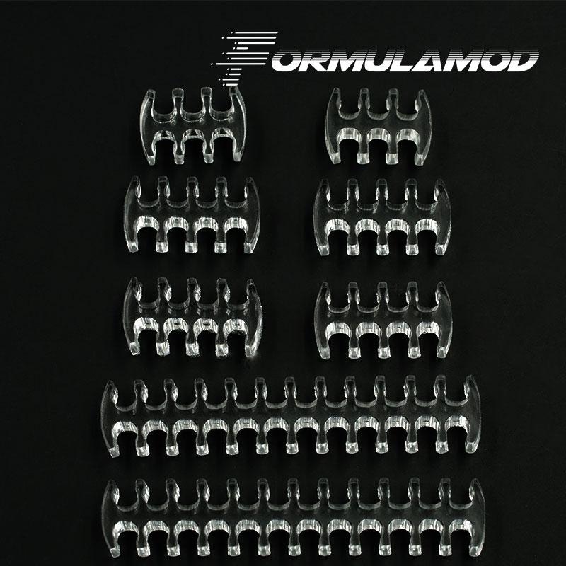 FormulaMod Fm-CombKit, Transparent Cable Comb kits, One Set For Cables, 2pcs 24pin/4pcs 8pin/2pcs 6pin