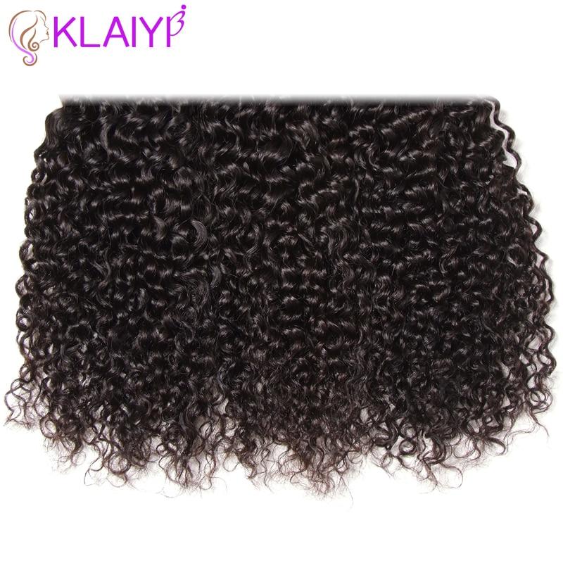 Klaiyi Haar brasilianisches lockiges Haar 13 * 4 Spitze Frontal - Menschenhaar (für Schwarz) - Foto 6