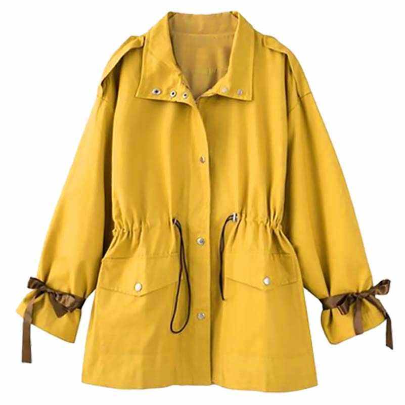 Women Oversized Baseball Jacket with Zip Stand up Collar Jacket with Slant Pocket Embroidery at Back Ribbed Cuffs and Hem