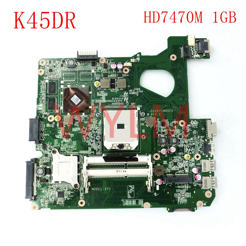 K45DR HD7470M 1GB laptop notebook mainboard For ASUS A45D A45DR K45D R400DR R400D K45DR Laptop motherboard