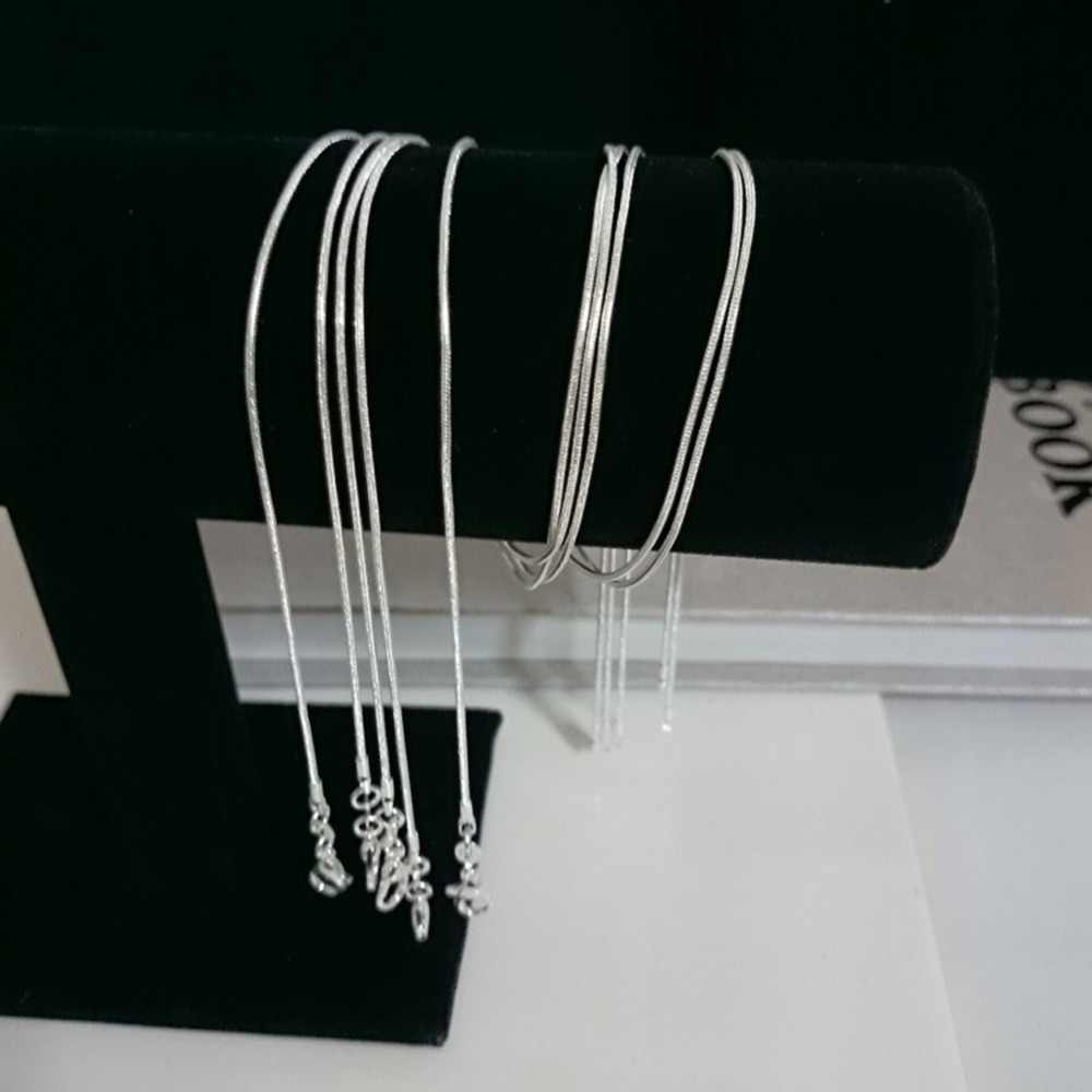 Fashion Charmant Luxe Unsex Snake Collier Verzilverd Sieraden DIY 16 18 20 22 24 26 28 30 inch freeshipping