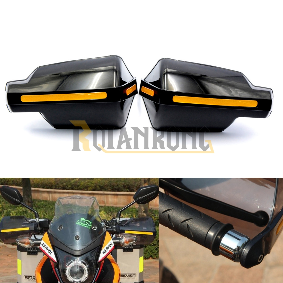Motorcycle wind shield Brake lever hand guard For BMW K1600 GT GTL R1200GS R1200R R1200RT R1200S with Hollow Handle bar 4pcs set smoke sun rain visor vent window deflector shield guard shade for hyundai tucson 2016