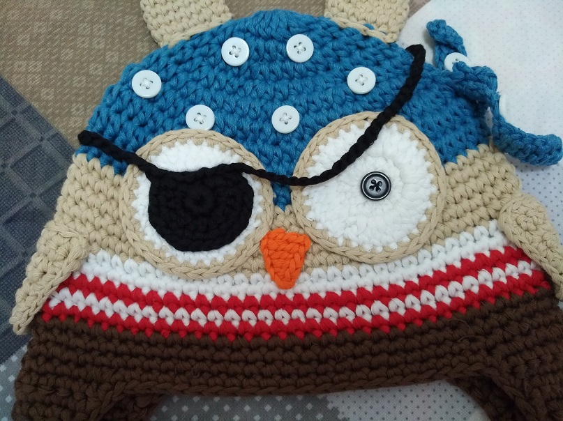 Free Shipping Crochet Pattern For Childrens Cartoon Pirates Owls