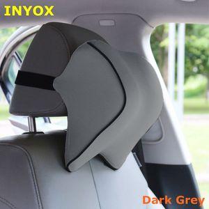 Image 4 - S1 ヘッドレスト車の首枕シート腰椎枕自動車バックヘッドレスト低反発生地チェアサポートクッションカバー