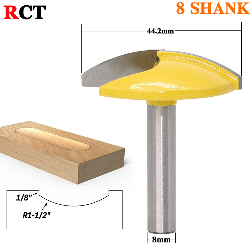 1PC 8mm Shank Small Bowl Router Bit - 1-1/2 Radius - 1-3/4 Wide door knife Woodworking cutter RCT 2 pc 1 2 sh 1 2 3 8 rabbeting