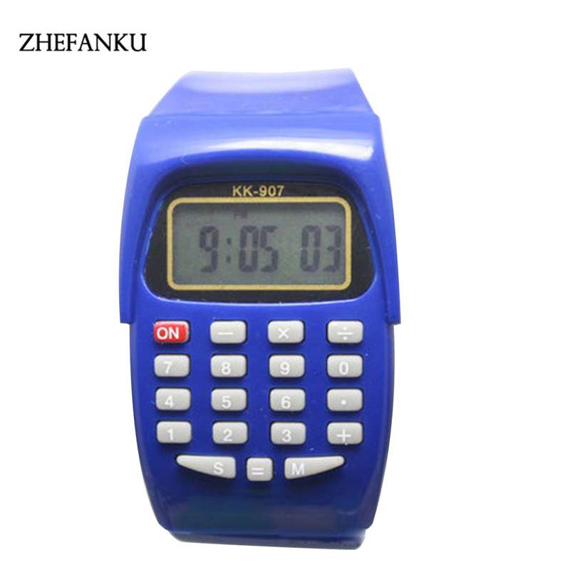 Multifunction Calculator Wristwatch Multi-Purpose Silicone Sports watch For Kids Children new fashion design unisex sport watch silicone multi purpose date time electronic wrist calculator boys girls children watch