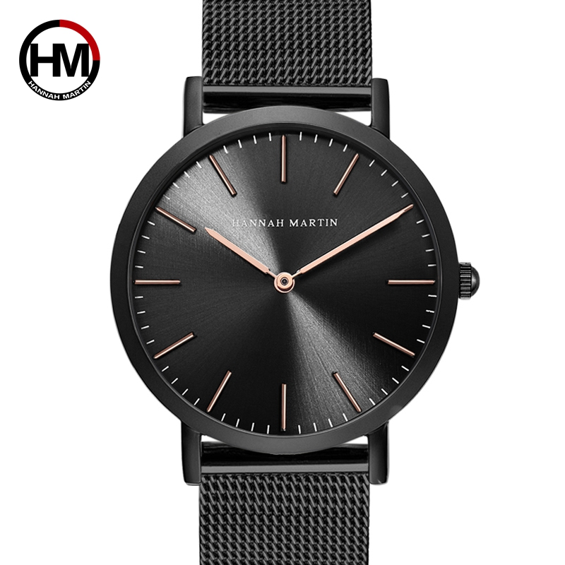 d015ed097725 Japan Quartz Movement Stainless Steel Mesh New Top Luxury Waterproof Men  Ultra Thin Simple Wristwatch Fashion