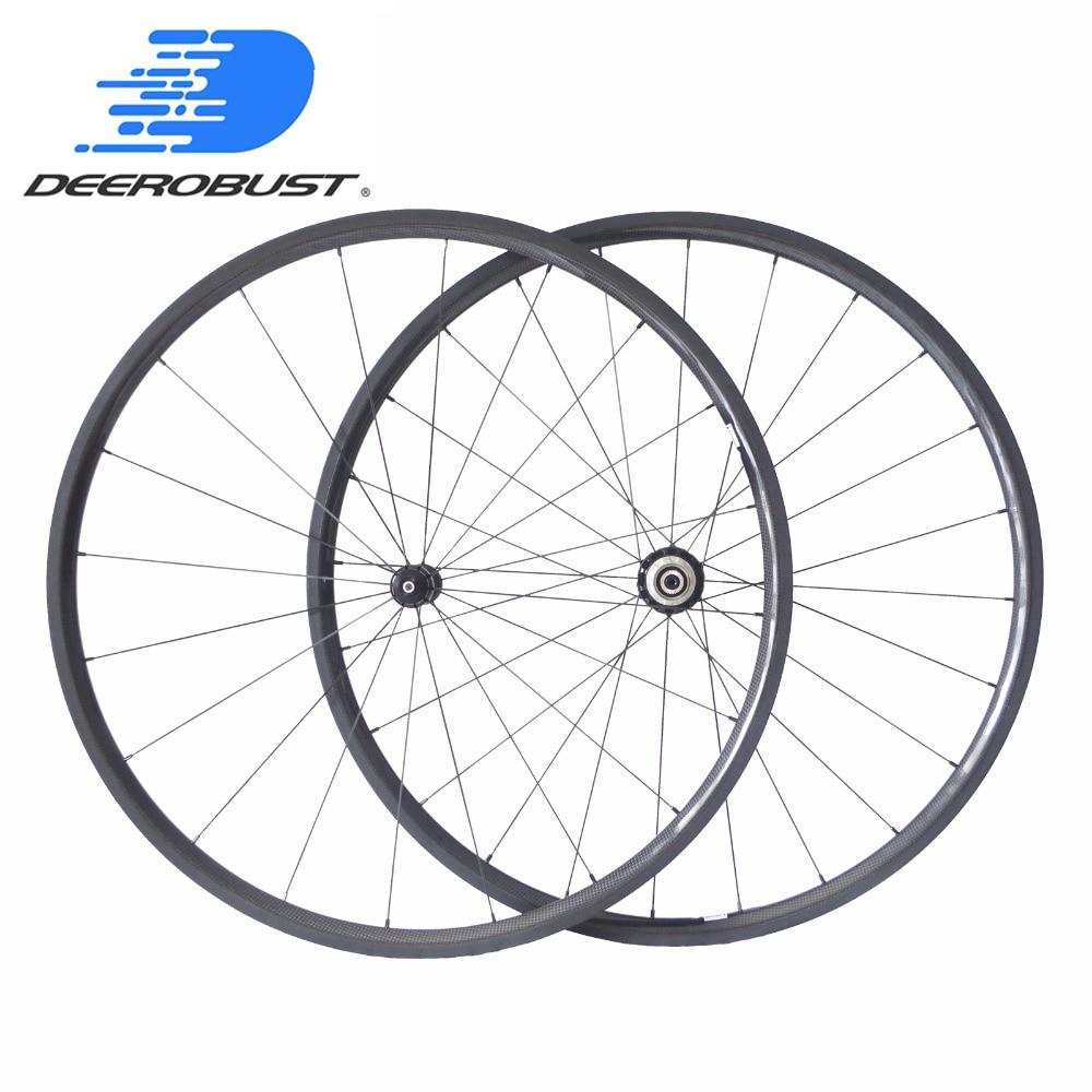 Pro Ceramic 700c 24mm Carbon Tubular Wheels Road Bike Bicycle Wheel Powerway R13 R36 Ceramic Bearing Hubs 20 24 Holes UD 3K 12K