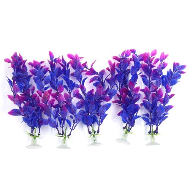 UXCELL 17Cm High Purple Aquarium Decor Aqua Landscape Plastic Plant Suction  Cup