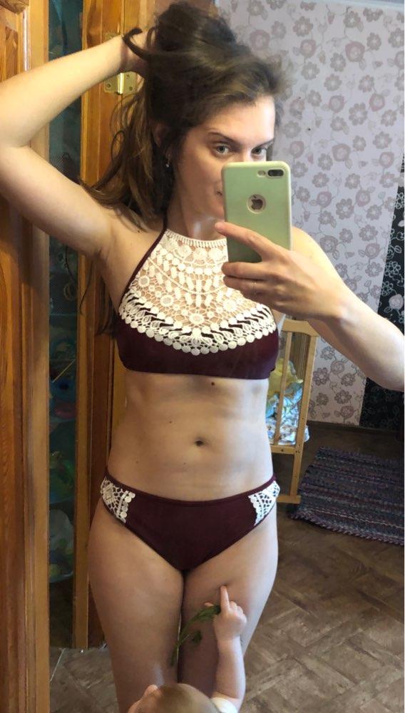 Push Up Swimwear Female 2017 Summer Women Sexy Bikini Set lace Swimsuit Beachwear Bathing Suit Brazilian Biquini
