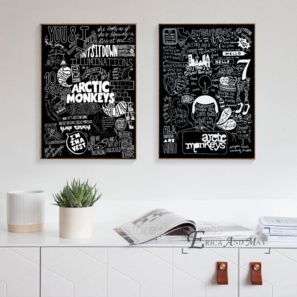 Arctic Monkeys Music Band Цитата Холст Картина Плакаты и принты для Гостиная не оформлена стены Книги по искусству картины Home Decor на распродажа