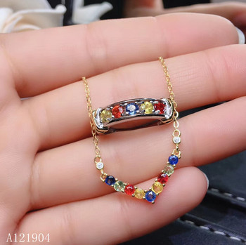 KJJEAXCMY boutique jewels 925 sterling silver inlaid natural color sapphire female ring + pendant + necklace support test
