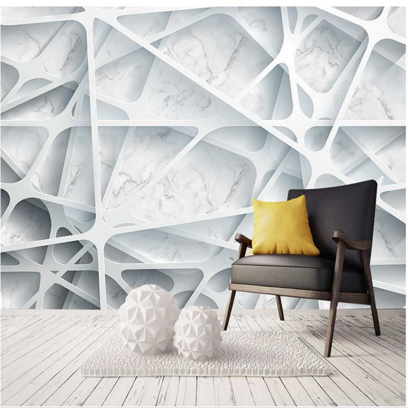 Nordic Style 3D Wall Paper For Walls Abstract ArtNon Woven