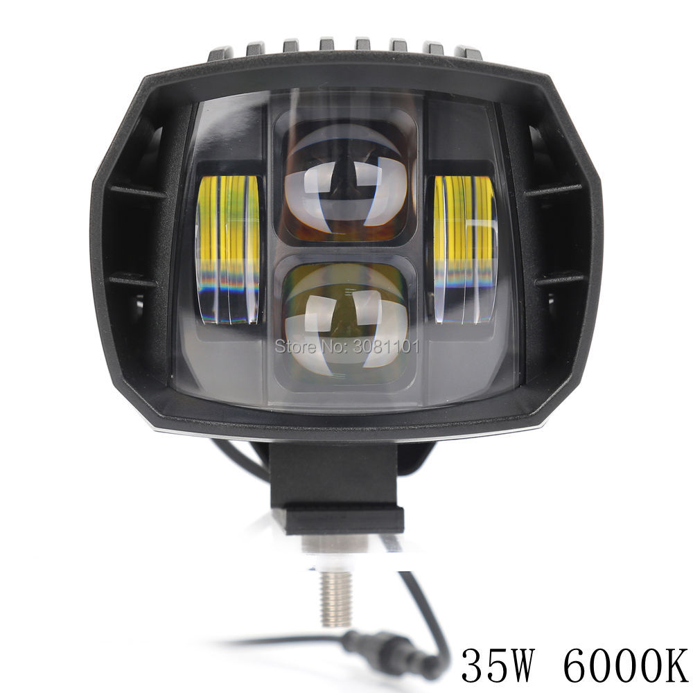 35W work light Off road Low beam light car-styling Truck SUV ATV Headlight For Jeep Driving Lights Low Beam LED Auxiliary Light 2pcs dc9 32v 36w 7inch led work light bar with creee chip light bar for truck off road 4x4 accessories atv car light