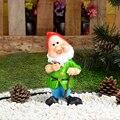 Садовые карликовые 22x11x7 см дешевые садовые статуи и скульптуры полирезиновый гном декор для сада 162-147