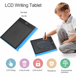 كمبيوتر لوحي LCD بشاشة للكتابة 4.4 بوصة الرقمية لوح رسم بخط منصات الإلكترونية رقيقة جدا رسالة الرسومات مجلس الأطفال هدايا