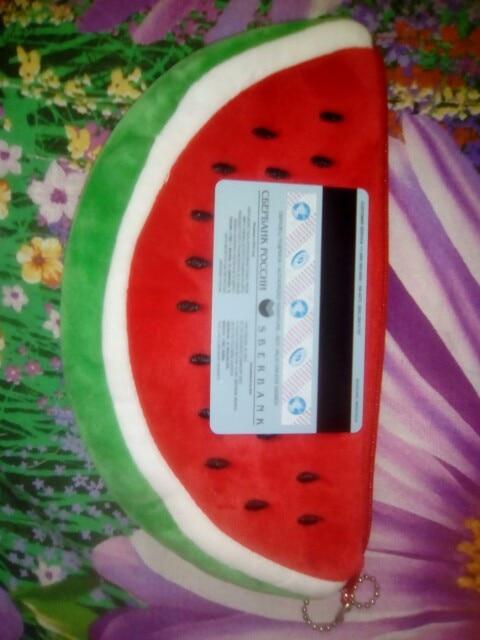 Kawaii watermeloen set tassen - 10CM pluche muntzak, Pocket portemonnee portemonnee Pouch zaak tas; 20CM Portemonnee voor muntenzak photo review
