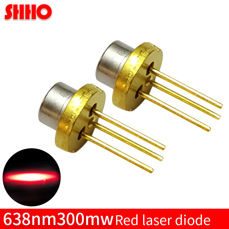 Laser semiconductor TO18/diameter 5.6mm 2.3V high quality 638nm 300mw red laser diode high power red light lamp accessories 808nm 300mw high power burning infrared laser diode lab
