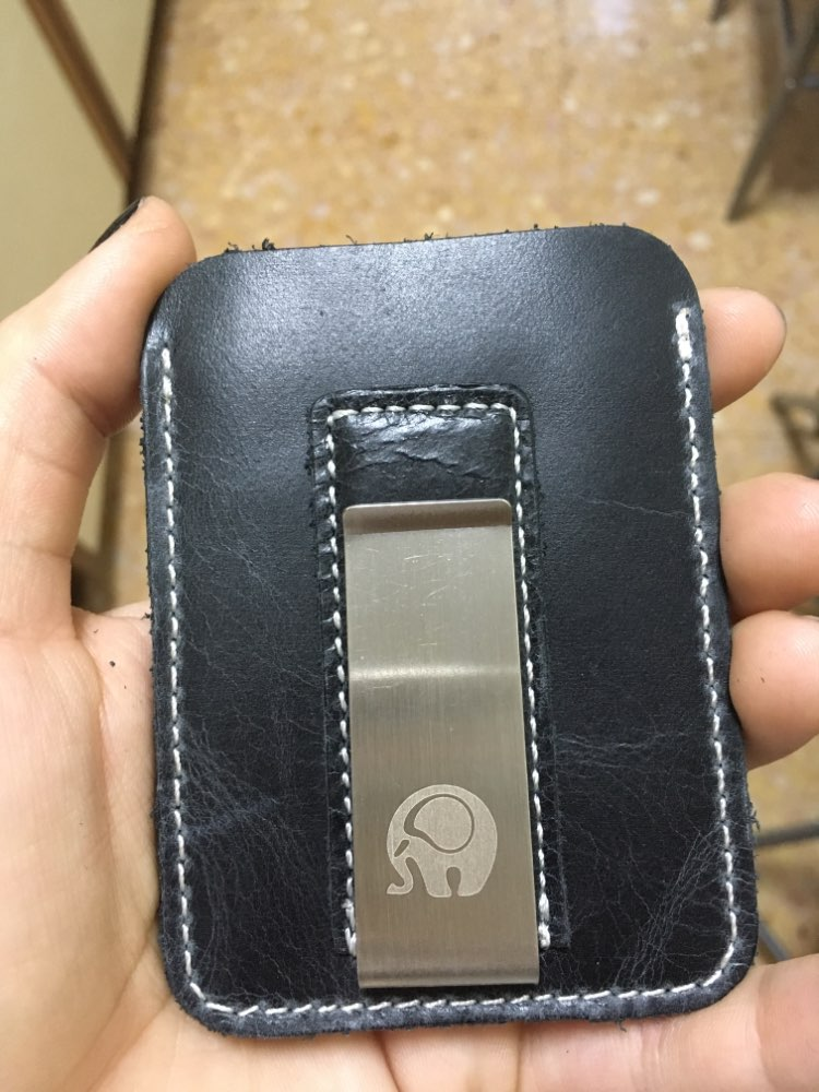 Wholesale Genuine Leather Money Clip Metal Men Card Pack Slim Bills Cash Clips Clamp for Money Thin Billfold Holder Cheap NEW photo review