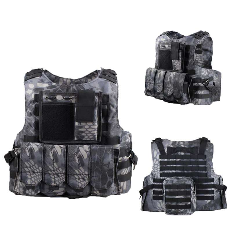 Uniforme Militar Tactical Vest Military Hunting Camouflage Clothing Colete Tatico Special Force SWAT City Duty Vests CS Clothes image