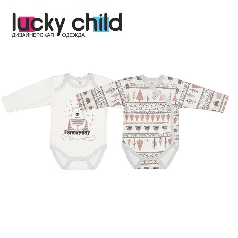 Bodysuits Lucky Child for girls 62-5 62-19 Winter holidays Body Newborns Baby Clothing Children clothes tank tops Christmas baby sleeping bag 93cm cartoon shark baby blankets newborns winter strollers bed swaddle blanket wrap cute bedding