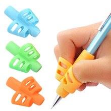 3 шт. детский пишущий карандаш Подставка Для Сковороды Дети Обучение Практика силиконовая ручка устройство для коррекции положения пальцев для студентов Новый