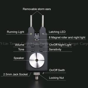 Image 3 - 1 + 4 Brand New Carp alarm zgryzowy wodoodporna wędkarska elektroniczna ryba Strike Rod Tip lampka ostrzegawcza Bell Wireless Receive