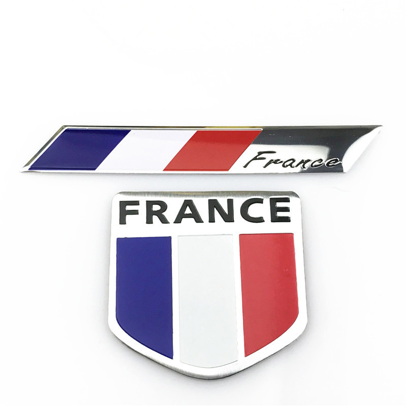 Car Styling 3D France Flag Emblem Badge Car Sticker Decals Accessories For Peugeot Citroen Renault DS Car-Styling dsycar 3d metal sport car sticker emblem badge for for universal cars motorcycle car styling decorative accessories chevrolet ds