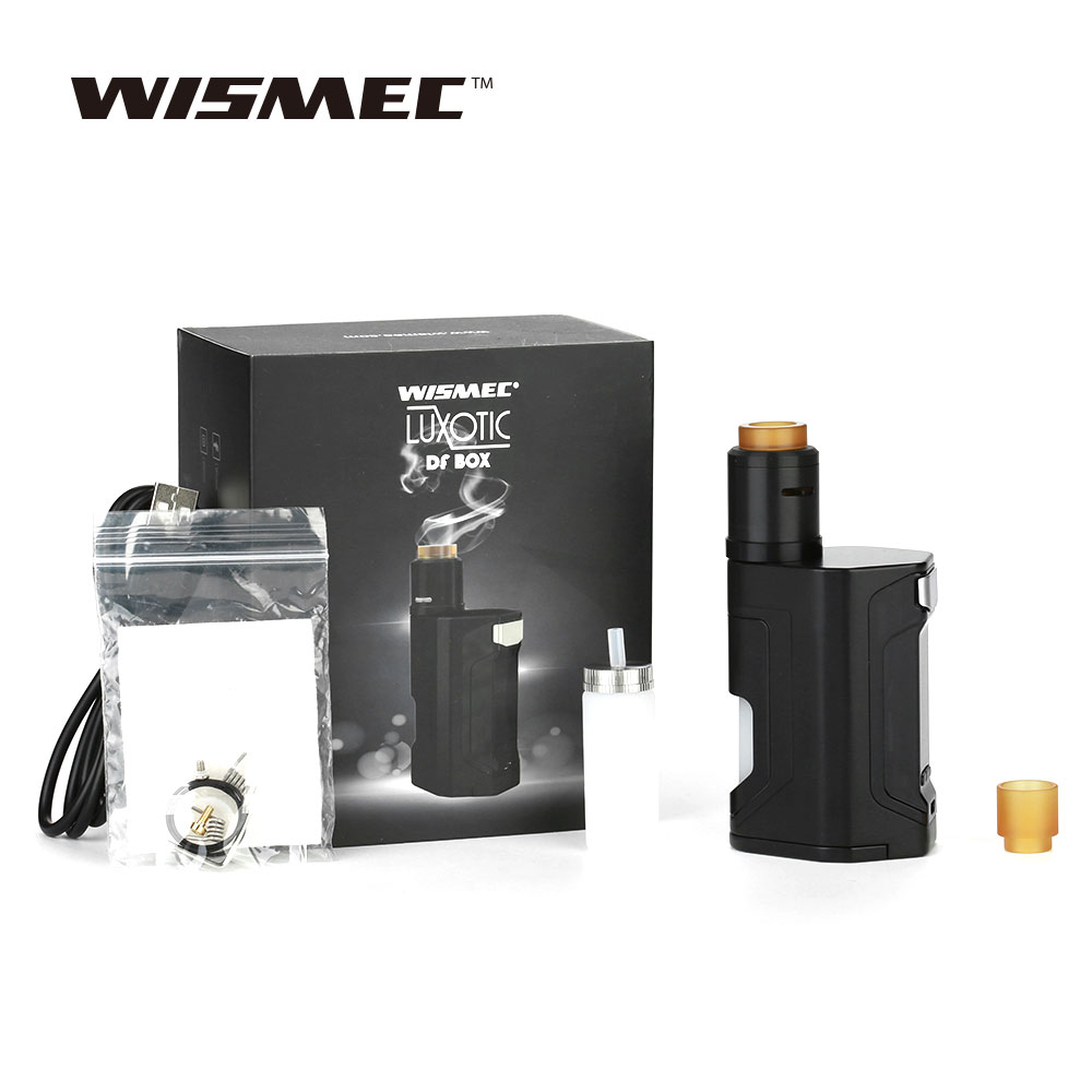 New Original WISMEC Luxotic DF Boîte 200 w TC Kit avec Guillotine Version2 RDA & 7 ml Grande Bouteille 200 w Max Sortie Squonker Kit vaporisateur